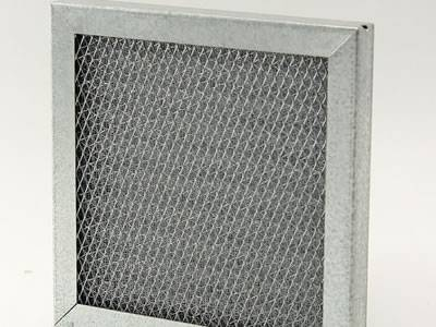 A square shape filter element panel with expanded metal sheet supported.
