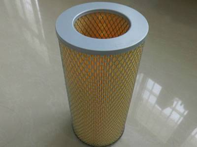 A air filter element on the ground with expanded metal sheet as supporting mesh.