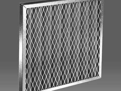 Expanded metal sheet is covering the carbon filter panel.
