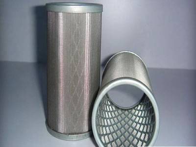 Two woven wire expanded metal tube with expanded metal supporting.